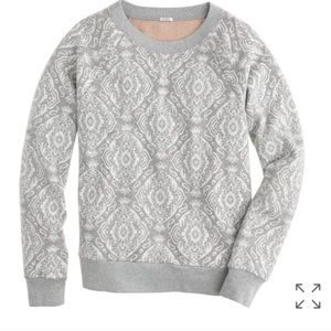 J.Crew Medallion Sweatshirt in Gray